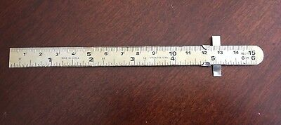 "Shinwa Stainless Steel Pocket Rule 6"" Made in Korea -- Vintage ?"