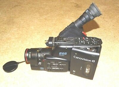 CANON E65 8mm VIDEO CAMCORDER Canovision 8