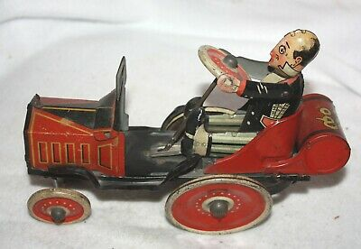 1931 Vintage Original MARX COO COO Car Wind Up Tin Toy CRAZY CAR  Working Alle Artikel in Elektrisches Spielzeug