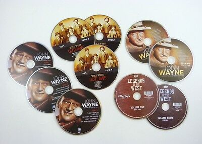 10 DVD Discs WESTERN MOVIES John Wayne  Legends  Wild West Outlaws (discs only)