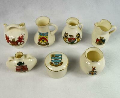 Antique English Genuine W H Goss~Souvenir~Crested China Collectable Mixed  Lot