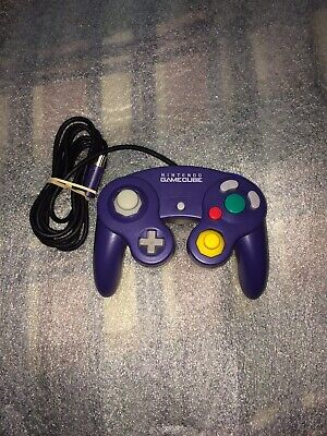 Clear Purple Indigo Nintendo Gamecube Controller Official Authentic Tested