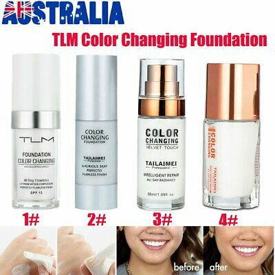 TLM Flawless Color Changing Foundation Makeup Base Face Liquid Cover Concealer P