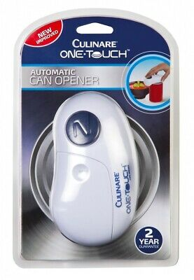 Culinare One Touch Automatic Can Tin Opener - White