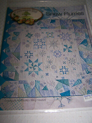 "Crabapple Hill 2012  ""Snow Flurries"" Quilt Embroidery Pattern, New Free Shipping"