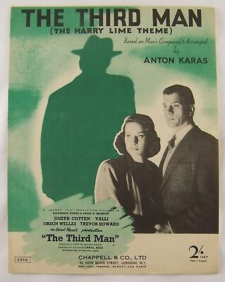 British Sheet Music: The Third Man-The Harry Lime Theme by Karas 1949