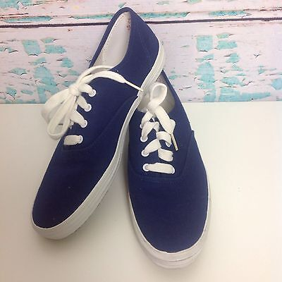 393a7012d43 Vintage 80s 90s Keds Navy Blue Canvas Sneakers Womens 8.5 Skater Athletic  Shoes