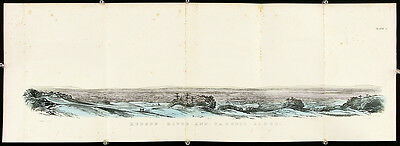 E. EMMONS Antique 19th C c1846 Fold-out HUDSON RIVER AND TACONIC, New York Range