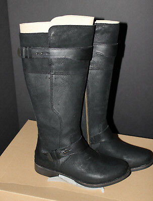 5d3698ea8a5 NEW UGG AUSTRALIA Dayle Tall Black Leather Riding Boots Sz 10 ...