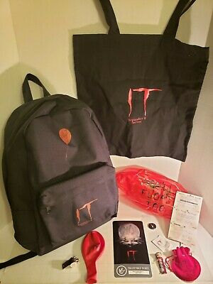 Stephen King IT 2017 Red Balloon Backpack plus more! Movie Promo Rare New