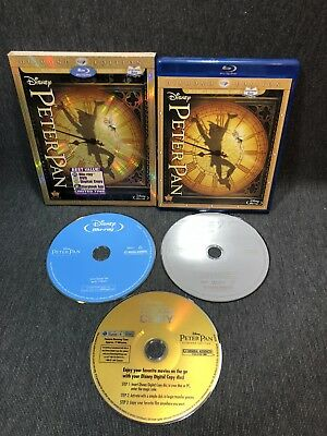 Disney Peter Pan (Blu-ray/DVD, 2013, 2-Disc Set, Diamond Edition) W Slipcover