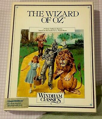 The Wizard Of Oz Commodore 64 Complete,Tested And In Excellent Condition! Rare!
