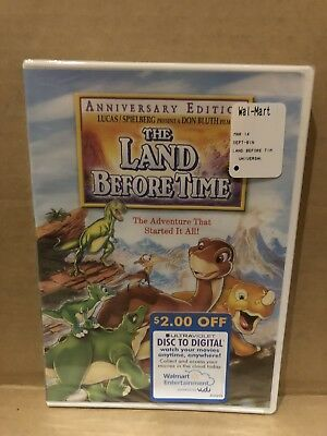 THE LAND BEFORE TIME New Sealed DVD Anniversary Edition
