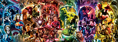 The Infinity Saga Marvel Cinematic Universe Wallpaper Poster 39 x 14 inches