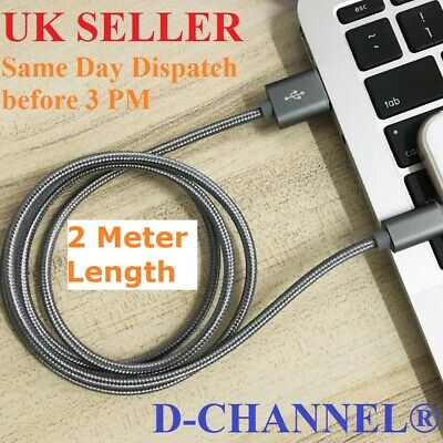 For iPhone 6s 7 8 6 5s X Long Braided USB Quick Charger Data Charging Cable Lead