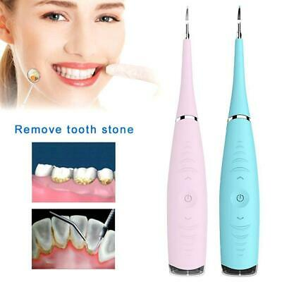 Electric Sonic Dental Tartar Scaler Calculus Plaque Remover Tooth Stains To F6X7
