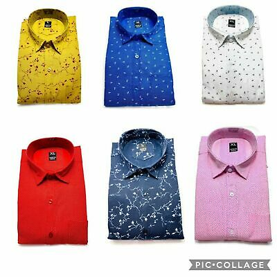Boys Mens Slim Fit Shirt Long Sleeve Dress Shirts Casual Shirt Tops Party wear