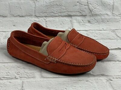 6f1ad5d80d3 Mercanti Fiorentini Shoes 8 B Leather Penny Loafer Coral Women s Driving Moc