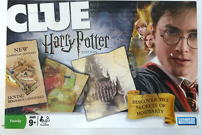 Hasbro Harry Potter Edition Clue 100% Complete 2008 Moving Hogwarts Board Mint!