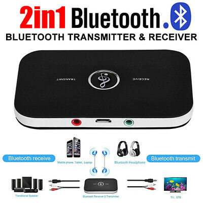 HIFI Wireless Bluetooth Audio Transmitter Receiver 3.5MM TV Music 2 in1 Adapter