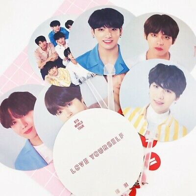 KPOP BTS Bangtan Boys Love Yourself World Tour Hand Fan J-HOPE JIN Fans Gift