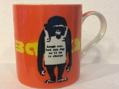Grafitti Artist Banksy Laugh Now But One Day We'll Be Charge Monkey Coffee Mug