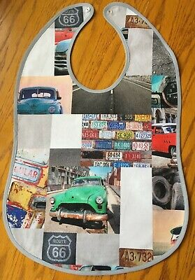 Adult size clothing protectors/bibs - retro cars design