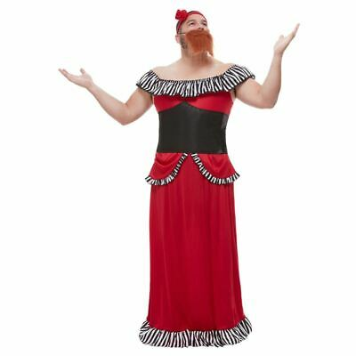 Mens Bearded Lady Costume Circus Showman Adult Fancy Dress Outfit