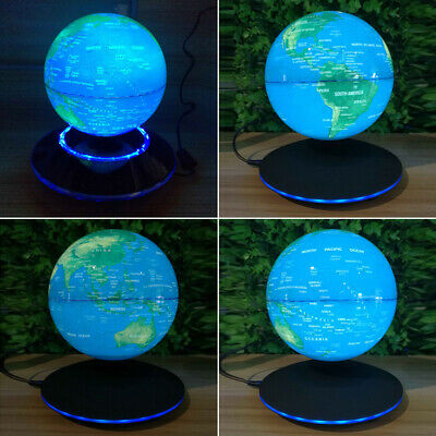 Magnetic Levitation Floating Earth Globe 6 Inch Rotating Lighting Anti-Gravity