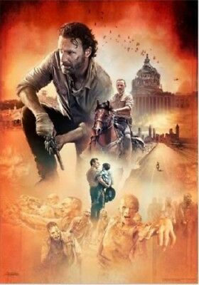 The Walking Dead Rick Grimes Collage Lithograph Poster replica magnet - new!
