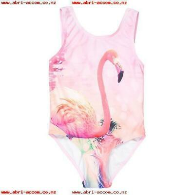 LA REDOUTE GIRLS PINK FLAMINGO SWIMSUIT AGE 3 YEARS NEW (ref 302)