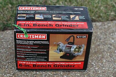 Pleasing Craftsman 8 Bench Grinder New Open Box 1 4 Hp 3450Rpm Model Bralicious Painted Fabric Chair Ideas Braliciousco
