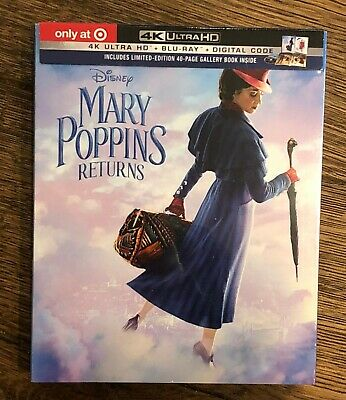 Mary Poppins Returns (4K UHD - Blu-ray - Digital ) Target Exclusive With Book