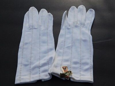 *Crescendoe Ladies Cream 100% Nylon Dress Gloves Unlined Size 6.5