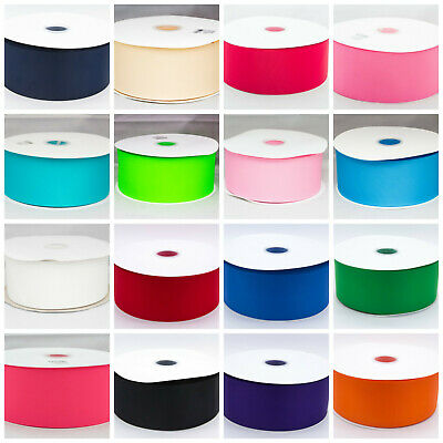 "Grosgrain Ribbon 50mm 2""  Solid Colours buy 3 get 4th free 1st Class Postage"