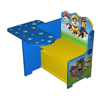 Paw Patrol Wooden Kids Work Bench Toy Box Storage.Table Chair Seat Workstation