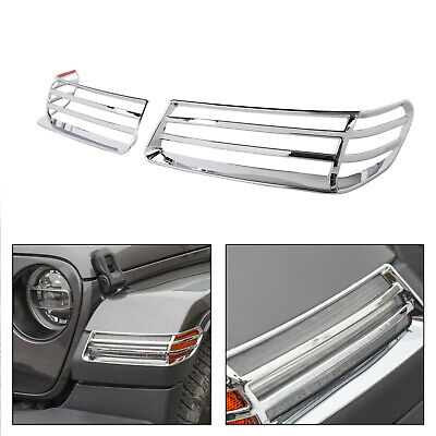 Side Marker Light Turn Signal lamp Guard Cover Trims Fit 18 Jeep Wrangler JL CH/