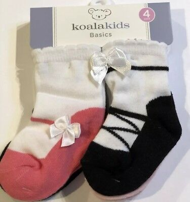 2ee3b472629b1 NWT 4 PAIR Pack Of Baby Girl Socks Size 0-6 Months