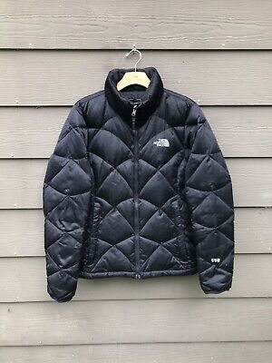 6b8447fea THE NORTH FACE 550 Black Quilted Pattern Down Puffer Jacket Coat - Womens  Medium