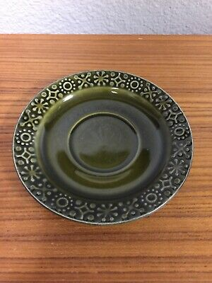 Connemara Celtic Irish Fine Earthenware Saucer for Cup Vintage Green Shamrock