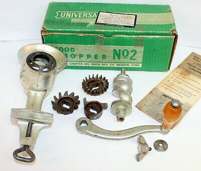 Vintage Counter Mount Sausage Maker Food and Meat Grinder Chopper No. 2