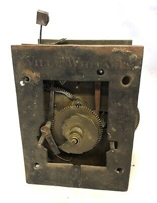 Antique Long Case Grandfather Clock 8 Day Movement : WHITAKER HALIFAX Falseplate