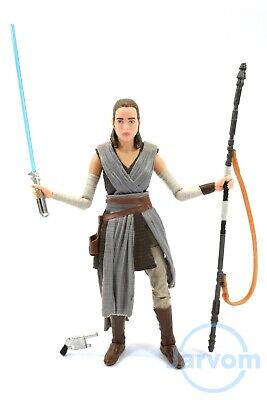 """Star Wars Authentic Black Series 6"""" Inch #44 Jedi Training Rey Loose Complete"""
