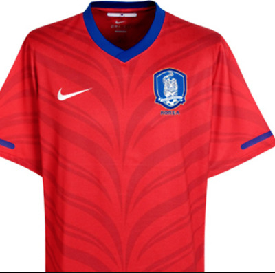 11a78a51a Nwot Mens Nike Dri Fit South Korea National Team Authentic Soccer Jersey  Red M