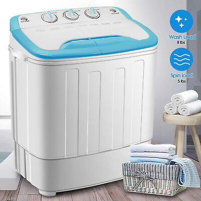 Top Load Washing Machine Portable Mini Twin Tub Compact Washer Spin Dryer