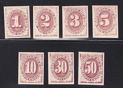 US J15P4-J21P4 Postage Due Plate Proofs on Card VF-XF SCV $135