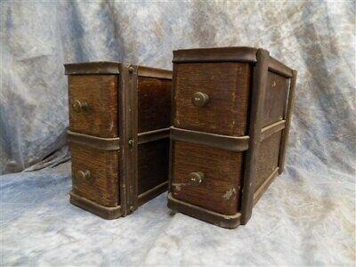 4 Sewing Machine Treadle Cabinet Drawer Singer Sign Wood Cubbyhole Cabinet a77