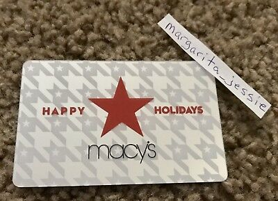 Macy's Foil Gift Card Happy Holidays Stars Mirror No Value New