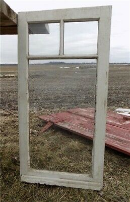 Old Wood Transom Window Glass Pane Vintage Architectural Salvage 35.5 x 18 a31