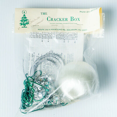 "New Vintage 1988 Seahorse Untamed in White Cracker Box 3"" Christmas Ornament Kit"
